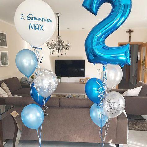 Zum 2 Geburtstag Von Max Balloons Balloon Bubbles