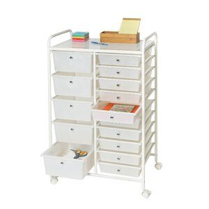 Duffy Organizer 15 Drawer Rolling Storage Drawer In 2020 Rolling Storage Storage Drawers Craft Storage Drawers