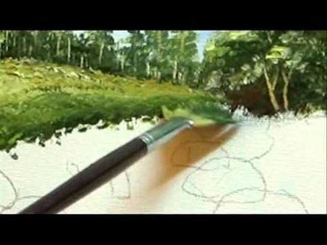 Part 5 Landscape Painting -How  To Paint Grass