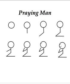 Praying man is a fun game that can be used to reinforce