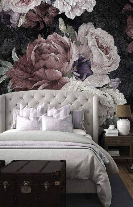 60 Ideas Flowers Wallpaper Bedroom Decor For 2019 Flowers Wallpaper Bedroom Floral Wallpaper Trendy Wallpaper