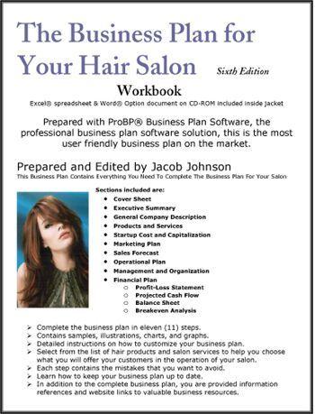 Best Hair Salon Business Plan Ideas On Pinterest Salon - Salon business plan template