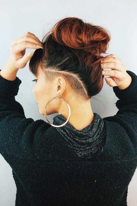 Undercut Hairstyles Women, Undercut Long Hair, Shaved Side Hairstyles, Shaved Undercut, Undercut Women, Wedge Hairstyles, Shaved Hair Women, Half Shaved Hair, Long Hair Shaved Sides