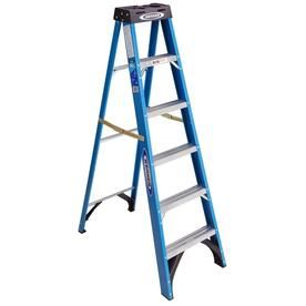 Werner Fs100 6 Ft Fiberglass Type 1 250 Lbs Capacity Step Ladder Lowes Com In 2020 Step Ladders Ladder Fiberglass