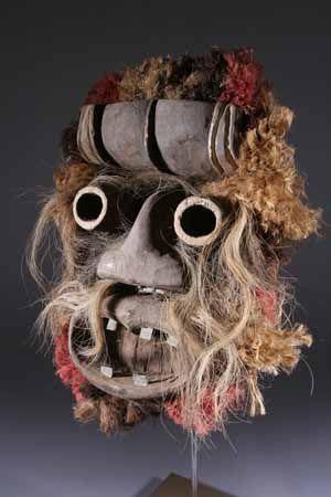 masque africain qui fait peur