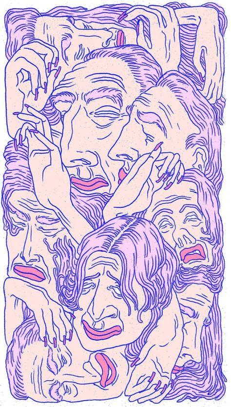 Art wallpaper iphone illustrations Ideas for 2019 Psychedelic Art, Psychedelic Pattern, Free Illustration, Graphic Design Illustration, Art Hoe, Wow Art, Grafik Design, Aesthetic Art, Aesthetic Drawing