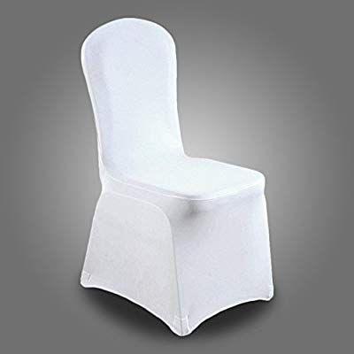 Hengda 100x Blanc Housses De Chaise Couverture Stretch De Chaise
