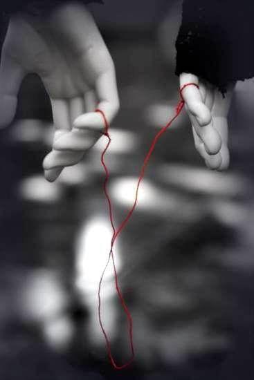 """""""Um fio invisível conecta os que estão destinados, independentemente, do tempo, lugar ou circunstância. O fio pode esticar ou emaranhar-se mas nunca irá partir."""" lenda chinesa"""