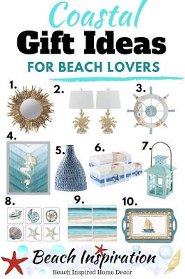 20 Coastal Gift Ideas For Beach Lovers Beach Gifts Coastal Gift Gifts Diy Woman