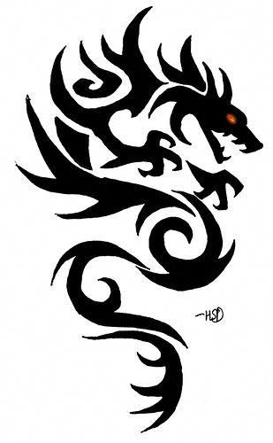 How To Color An Elemental Dragons Artwork Using A Simple Dragon Simpledragontattoo Small Dragon Tattoos Dragon Tattoos For Men Celtic Dragon Tattoos