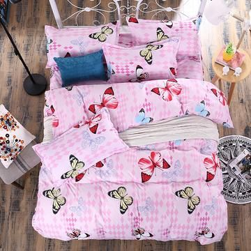 Indian Butterfly Printed Gray Bedsheet Cotton Bedspread Quilt Queen Size Bedding
