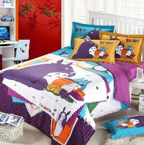 Queen Size Kid Schlafzimmer Sets Lila Kinder Cartoon Bettwasche