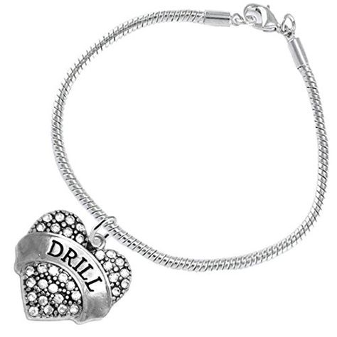 Lead and Cadmium Free Red Paw Cheer 3 Charm Bracelet Safe-Hypoallergenic Nickel