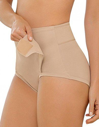 Leonisa Women's Postpartum Recovery Support Panty Shaper with Adjustable Belly Wrap,Small,Nude Maternity Underwear, Gaines, Mode Chic, Pretty Lingerie, Lose Belly Fat, Fashion Outfits, Womens Fashion, Blouse Designs, Postpartum Recovery