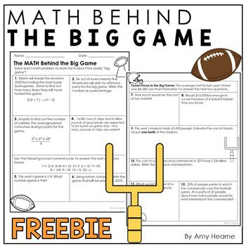Your Students Are Sure To Love This Real World Math Worksheet Not Only Will Your Students Be Practicing A Var Real Life Math Seventh Grade Math Math Worksheet