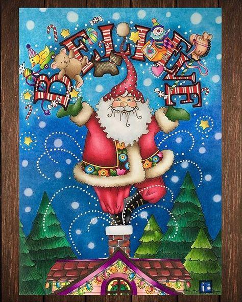 Believe!! Libro: Mary Engelbreit's Color me christmas ❄️❤️ Hecho con prismacolor premier 150, stabilo 88 y plumas de gel. #maryengelbreit #colormechristmas#christmas#santa#coloringbook #coloringforadults #coloring_secrets #coloringtherapy #prismacolor#stabilo88#believe#maryengelbreitcoloringbook
