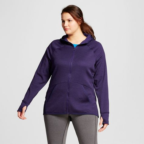 7a0102d7ac8 Women s Plus Size Tech Fleece Full Zip Hoodie - Stately Purple Heather 3X -  C9 Champion