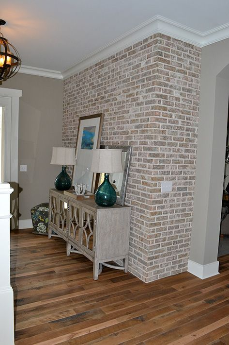 10 Strategies To Apply White Brick Wall In Various Rooms Archlux Net In 2020 Brick Interior Wall Faux Brick Walls Brick Wall Decor