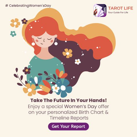 You do not have to travel through difficult roads to reach beautiful destinations. #TarotLife is celebrating Women's day with special offers on Personalized #BirthChart and #Timeline Reports to guide you on your journey to the future. #celebratingwomen #HappyWomensDay #HappyWomen #HappyWomensMonth #women #womenpower #womensday2021 #womensdayspecial #womensdaycelebration #womensdayoffer #womensdayspecial