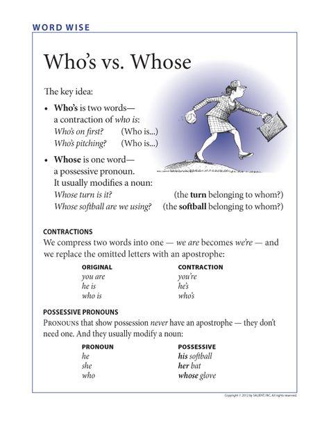 FREE: Who's vs. Whose