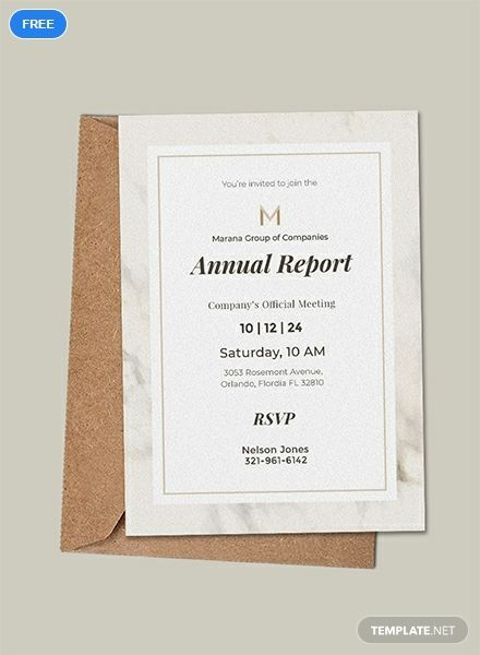 Free Official Meeting Invitation Template Invitation Template Invitations Christmas Invitations Template