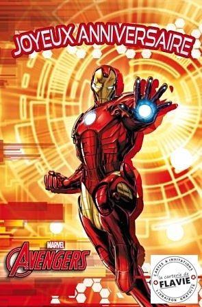 Cartes Anniversaire Avec Avengers Carte Anniversaire Cartes Carte Invitation Anniversaire