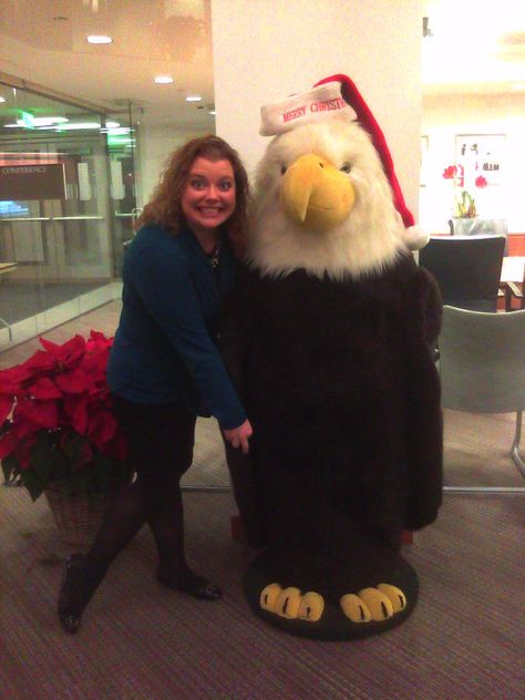 In my favorite place with the most festive holiday eagle! @bostoncollege