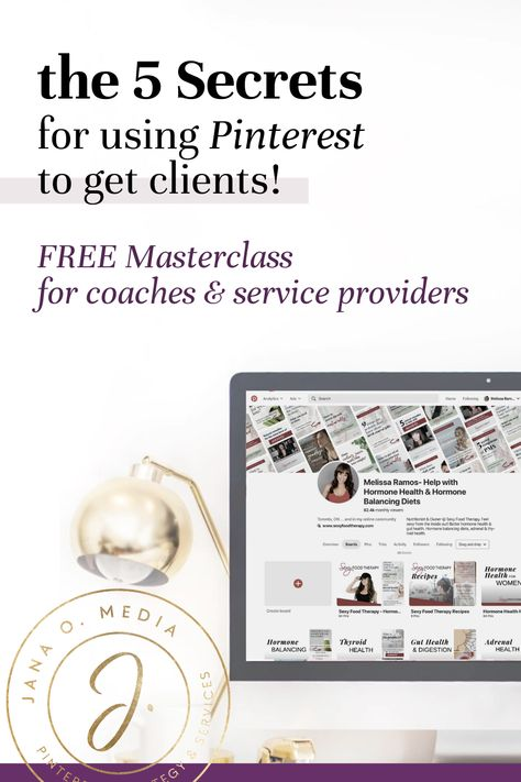 Free Pinterest marketing course - tutorial for online coaches and service providers!