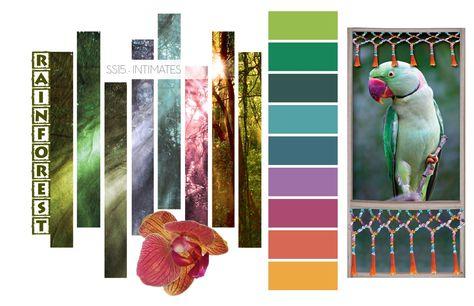 Sp/Su 2015 Intimates Color Inspirations: Rainforest