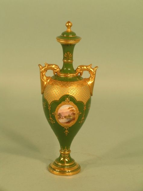 60 A Coalport Vase And Cover Circa 1890 The Slender O On
