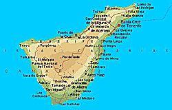Teneriffa Karte Regiones