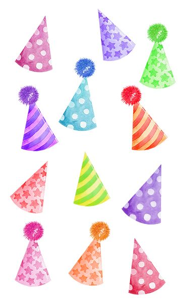 Party Hats Watercolor Clipart Birthday Cap Clip Art Instant Download In 2021 Clip Art Watercolor Party Scrapbooking Projects