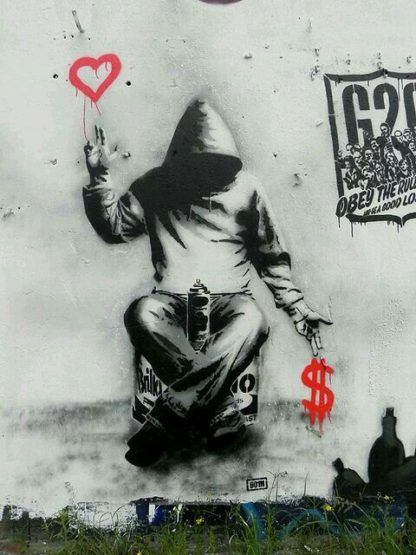 Saul The Age Materialism Is Over Street Art Graffiti Graffiti