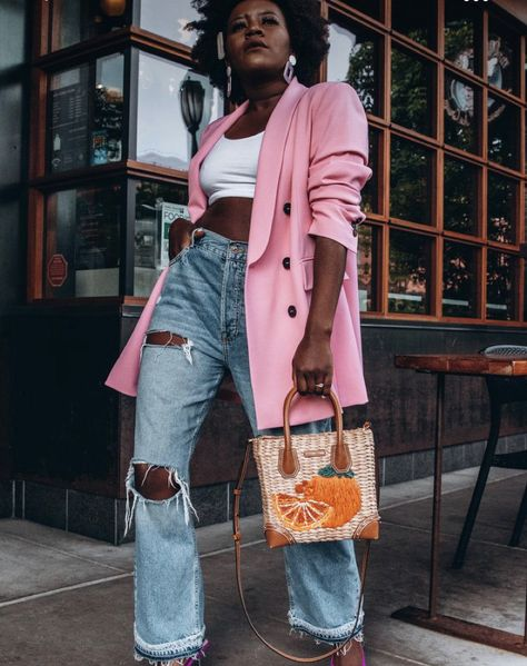 love the idea of an oversized (or normal) blazer…and colorrrrrr