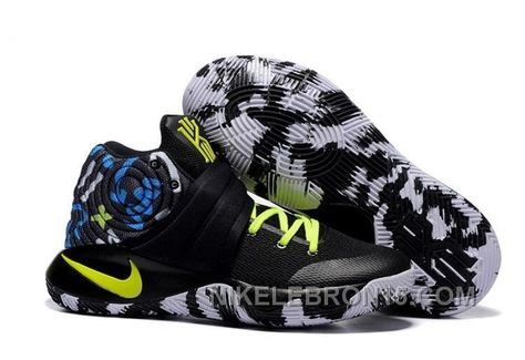 "super popular d0802 ca904 Nike Kyrie 2 ""Camo"" BlackNeon Green Basketball Shoes Copuon Code  어빙   Pinterest"