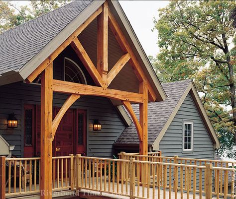 Timber frame beautiful exteriors on pinterest for Beautiful a frame homes