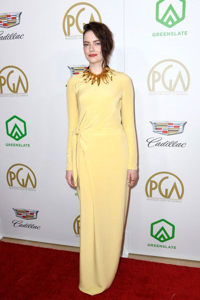 Emma Stone attends the 30th annual Producers Guild Awards at The Beverly Hilton Hotel.