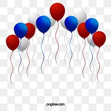 American Red White And Blue Balloons Balloon Red White And Blue Png Transparent Clipart Image And Psd File For Free Download Happy Birthday Blue Blue Balloons Happy Birthday Balloon Banner