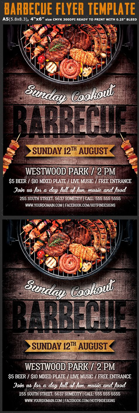 BBQ Party Flyer Party flyer, Flyer template and Flyer printing - bbq flyer