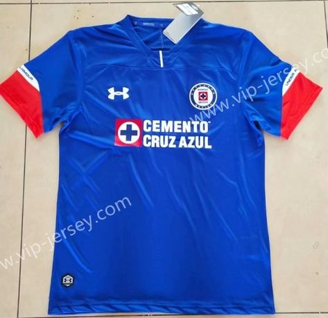 4d3ae6888ab 2018-19 Cruz Azul Home Blue Thailand Soccer Jersey AAA | 2018/2019 ...