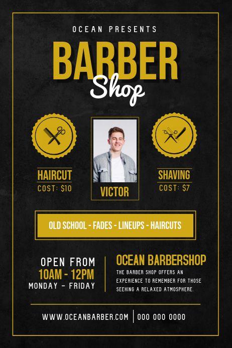 basic barber shop ad poster barber