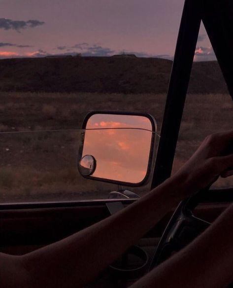 indie aesthetic sky car sunset alternative