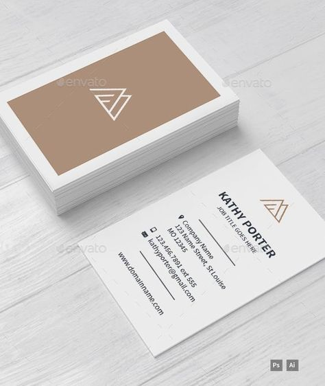 AM Business Card Template - Photoshop PSD # Brand Identity # Layered