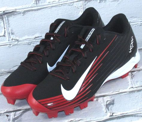 036c192bb9d8b3 Mens Nike Vapor Strike 2 MCS Baseball Cleats Black Red  Nike