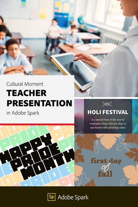 Cultural Moment Teacher Presentation in Adobe Spark