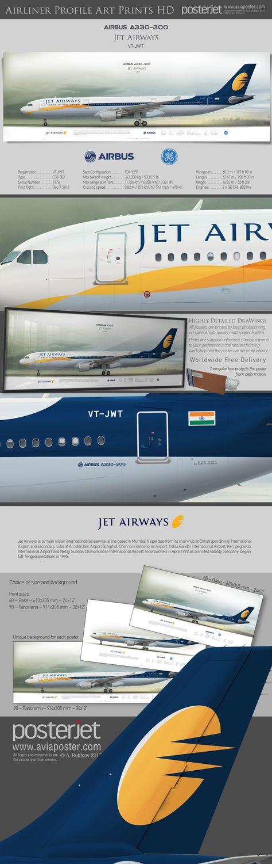 aviation Airbus A330-300 Jet Airways...