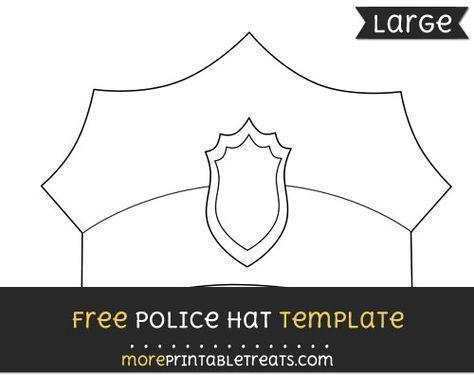 picture regarding Printable Police Hat identified as Pin upon Preschool