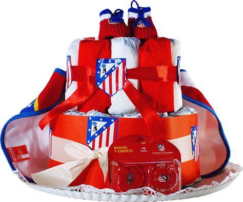 Tarta De Panales Atletico De Madrid Regalo Original Para Bebes
