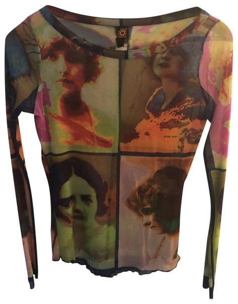 Jean-Paul Gaultier Multicolor Soliel Blouse Size 6 (S) 2000s Fashion, Fashion 2020, High Fashion, 90s Teen Fashion, Quirky Fashion, Gothic Fashion, Mode Outfits, Fashion Outfits, Mode Instagram
