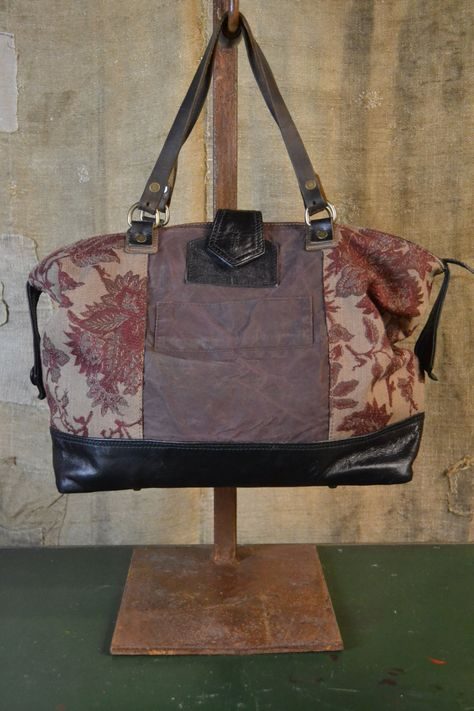 48f4c4858a Items similar to UPCYCLED HANDBAG from VINTAGE Elements - Made in Italy Eco- friendly style